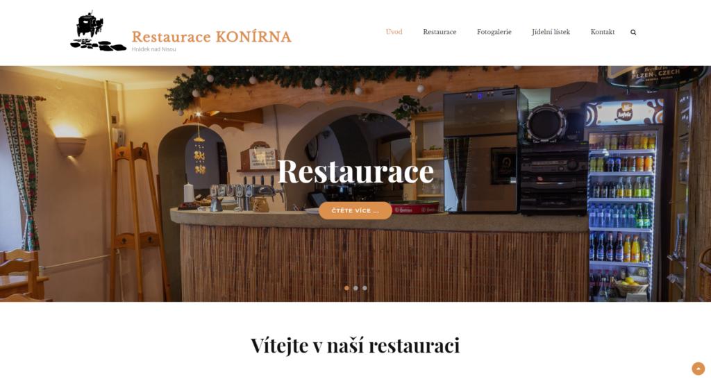 Restaurace Konírna - web