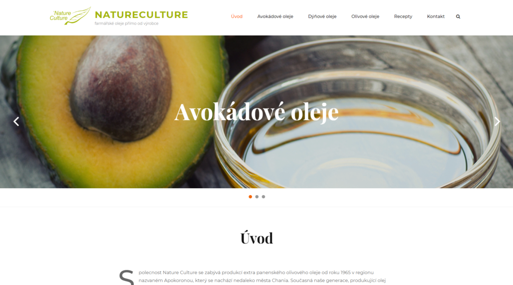 Natureculture - web, produktová fotografie
