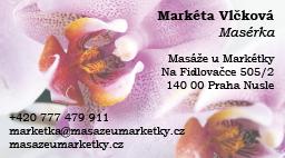 Masáže u markétky - Vizitka